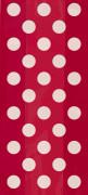 20 Pochettes cadeaux rouges à pois blanc
