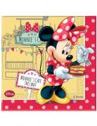 20 Serviettes en papier Minnie Café™ 33 x 33 cm