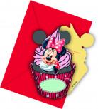 6 Cartes d'invitation avec enveloppes Minnie café™