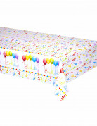 Nappe plastique Happy Birthday 120 x 180 cm