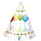 6 Chapeaux de fête Happy Birthday