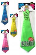 Cravate humoristique retraite