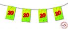 Guirlande fanions papier 20 ans 4m