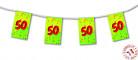 Guirlande fanions papier 50 ans 4m
