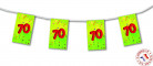 Guirlande fanion papier 70 ans 4m