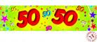 Banderole papier 50 ans 0,16 x 2,44 m