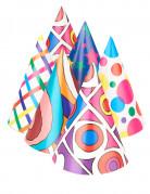 6 Chapeaux pointus colorés