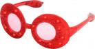Lunettes ovales à paillettes rouges