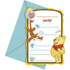 6 Cartes d'invitations Winnie l'ourson™