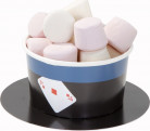 6 Petits pots avec cuillères Goûter entre magiciens