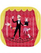12 Assiettes en carton Goûter entre magiciens 21 cm