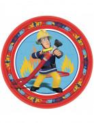 8 Assiettes en carton Sam le pompier™ 23 cm