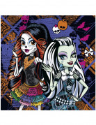20 Serviettes en papier Monster High™ 33 x 33 cm