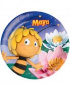 8 Assiettes en carton Maya l'abeille™ 23 cm