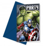 6 Cartes d'invitation Avengers™