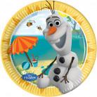 8 Petites assiettes en carton Olaf™ 19.5 cm