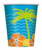 6 Gobelets Palmiers Hawaï