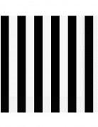 16 Serviettes en papier Rayées noires et blanches 33 x 33 cm