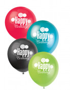 8 Ballons Happy Birthday