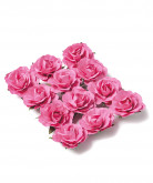 12 Roses à piquer fuchsia