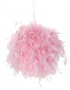 Boule à suspendre plumes roses 20 cm