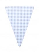 5 Fanions DIY vichy bleu ciel en carton