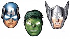 8 Masques en carton Avengers™