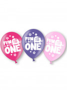 6 ballons Latex 1 an fille