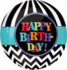 Ballon aluminum rond Celebrate your birthday