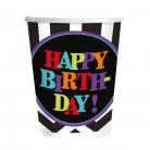 8 Verres en carton Celebrate your birthday