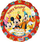 Ballon aluminium Happy Birthday Mickey ™ 43 cm