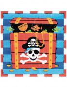 16 Serviettes en papier Sourire de Pirate 33 x 33 cm