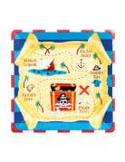 8 Petites assiettes en carton Sourire de Pirate 18 cm