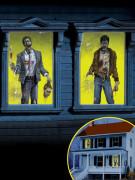 2 Décorations de fenêtres Zombies