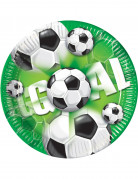 10 Assiettes en carton Goal Football 23 cm