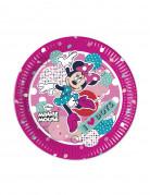 8 Petites assiettes en carton Minnie™ 20 cm