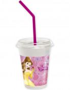 12 Gobelets à couvercle avec pailles Princesses Disney™
