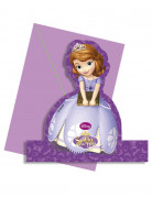 4 Cartes d'invitation avec enveloppes Princesse Sofia™