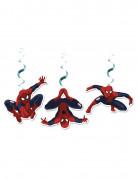3 Décorations spirales à suspendre Spiderman™