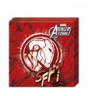 20 Serviettes en papier rouge Avengers™ 33 x 33 cm