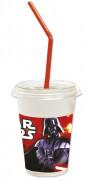 12 Gobelets avec couvercles et pailles Star Wars™ 300 ml