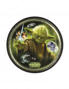 8 Petites assiettes en carton Star Wars™ 20 cm