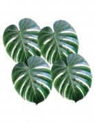 4 Feuilles de palmier en plastique vert