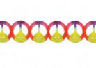 Guirlande multicolore en papier Peace