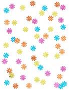 Confettis fleurs Hippie 1.2 cm