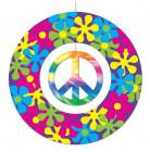 Décoration à suspendre en carton Peace 30 cm