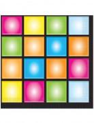 16 Serviettes en papier Disco 33 x 33 cm