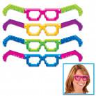 4 Paires de lunettes en carton années 80 8-Bit