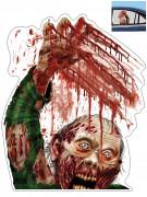 Décoration zombie pour fenêtre de voiture Halloween