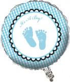Ballon aluminium Pieds bleus 46 cm